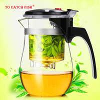 Théière en verre résistant à la chaleur de haute qualité kung fu chinois service à thé Puer bouilloire cafetière en verre cafetière de bureau pratique