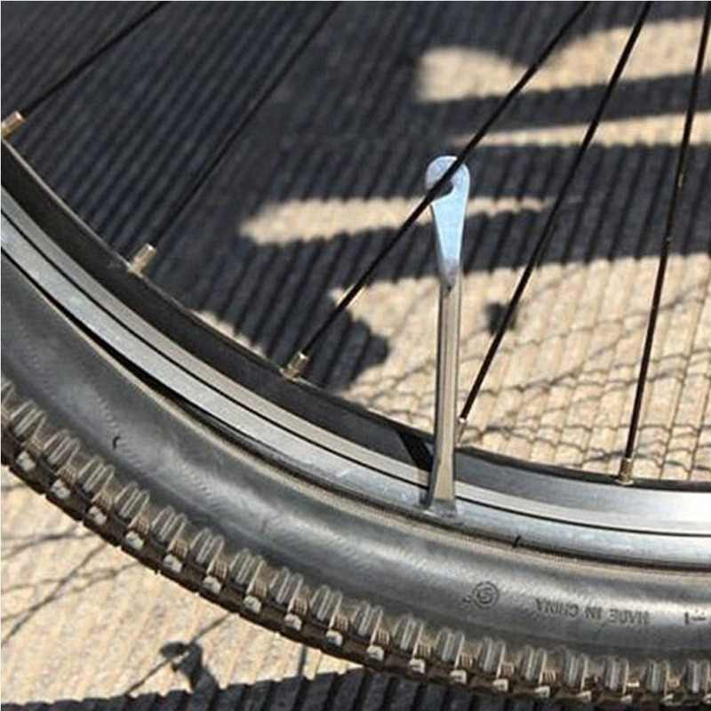 1pcs 12cm โลหะจักรยานจักรยานจักรยานยางยาง LEVER จักรยานล้อ Remover ซ่อมเครื่องมือยางชุดจักรยานจักรยานซ่อม crowbar