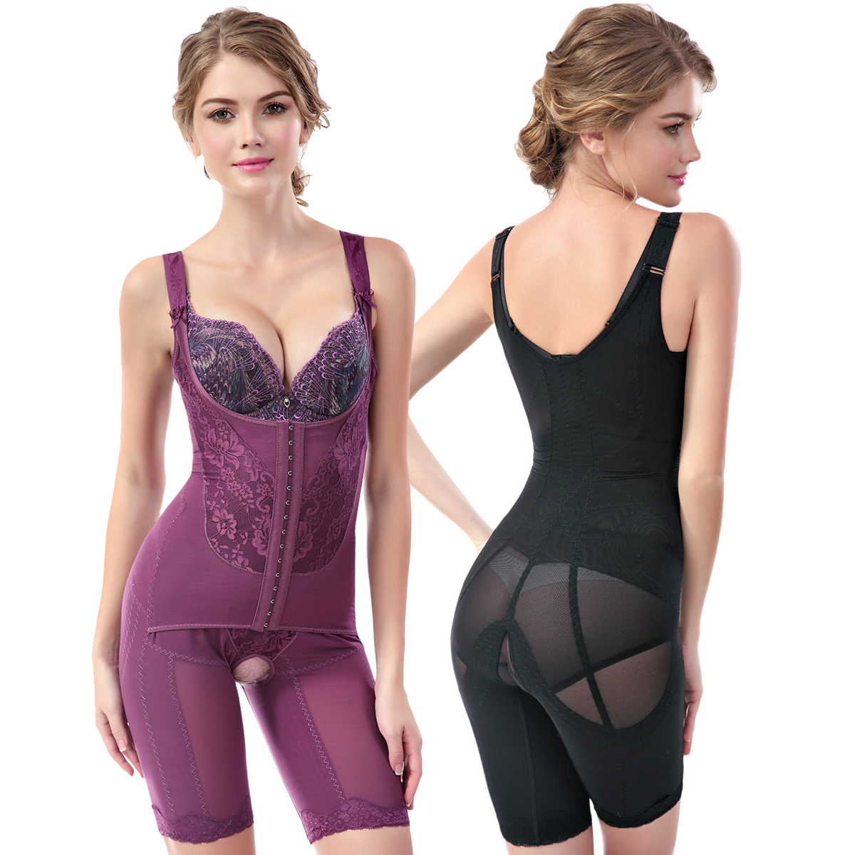Shaper completo per il corpo Shapewear cinturino per modellare le donne controllo della pancia intimo dimagrante vita senza cuciture Shaper modellante Butt Lifer corsetto 2