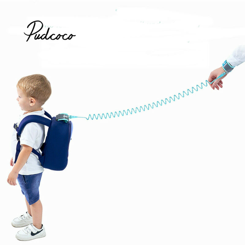Pudcoco 1.5-2.5m Kids Safety Harness Adjustable Children Leash Anti-lost Wrist Link Traction Rope Baby Walker Wristband