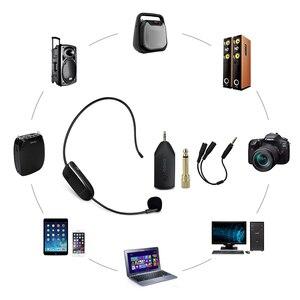 Image 4 - SHIDU U8 UHF Wireless Microphone 3.5/6.5mm Plug Headset Handheld 2In1 Portable Mic Voice Amplifier for Speakers Teacher Guide