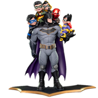 37CM Anime Justice League Batman and Robin Family Figurine Toys PVC Action Figure Collectible Model Statue