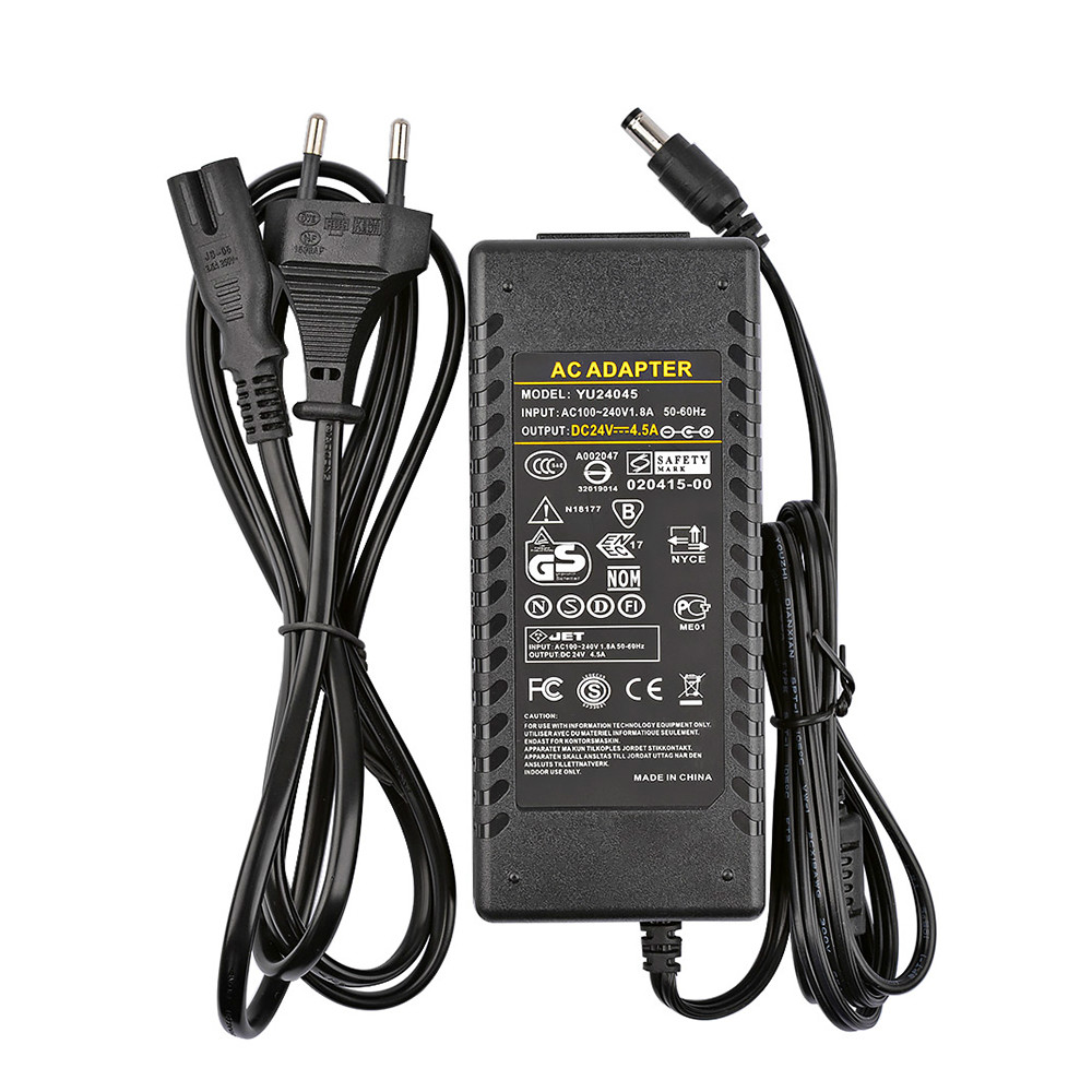 Amplifier 24V Power Adapter AC100-240V To DC24V 4 5A Power Supply For TPA3116 TPA3116D2 TDA7498E Power Amplifier EU Plug