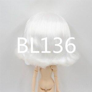 Image 2 - Blyth poupée perruque de poupée glacée seulement rbl cuir chevelu et dôme, cheveux courts ondulés jouet cuir chevelu pour bricolage poupée personnalisée