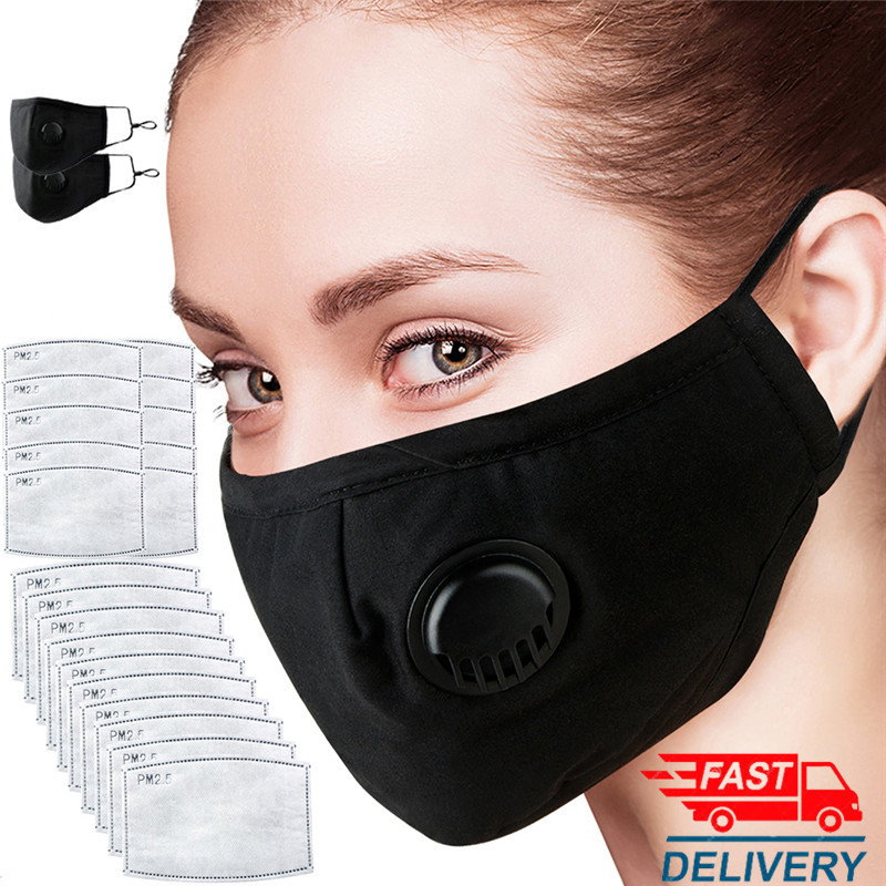 Fast Delivery 5 Layers Mask Breath Replacement Filter Activated Carbon Filter Mask Anti-dust PM2.5 Mask Send 2 Filter Breathable