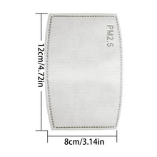 10/20/50/100pcs Anti-dust Face Mask 5 Layer PM2.5 Protection Filter Insert Non-woven Fabric Mouth Mask Filter