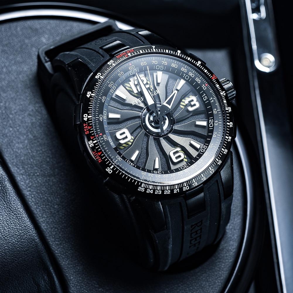 New 2020 Reef Tiger/RT Men's Sport Automatic Watches Black Steel Military Watch Luminous Watch Waterproof Luxury Brand RGA3059