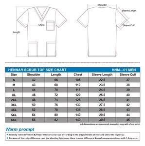 Image 2 - NEW 1908 Hennar Brand men  scrub top 100% cotton  uniforms