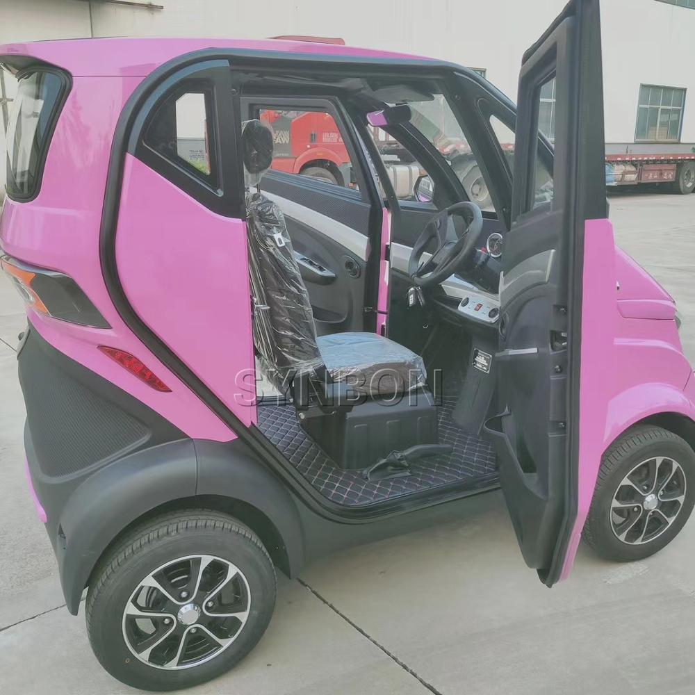 Новый электромобиль для взрослых, 4 места, две двери, окрашенный цвет, четыре колеса, литиевая батарея