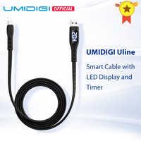 Cable UMIDIGI Uline USB tipo C con pantalla LED temporizador apagado automático para UMIDIGI Xiaomi teléfono inteligente Huawei Samsung carga rápida