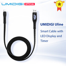 Umidigi Uline Usb Type C Kabel Met Led Display Timer Auto Power Off Voor Umidigi Xiaomi Huawei Samsung Smartphone Snelle opladen(China)