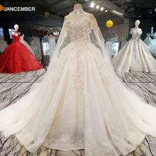 LS54799 ארוך קייפ חתונת שמלה עם צווארון שרשרת כבוי כתף מתוקה מכירה לוהטת כלה חתונת שמלת vestido דה noiva barato