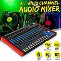48V Audio Mixer mit USB Professional 12 Kanal bluetooth Studio DJ Mischen Konsole Karaoke Verstärker Digital KTV Sound Mixer-in DJ-Equipment aus Verbraucherelektronik bei