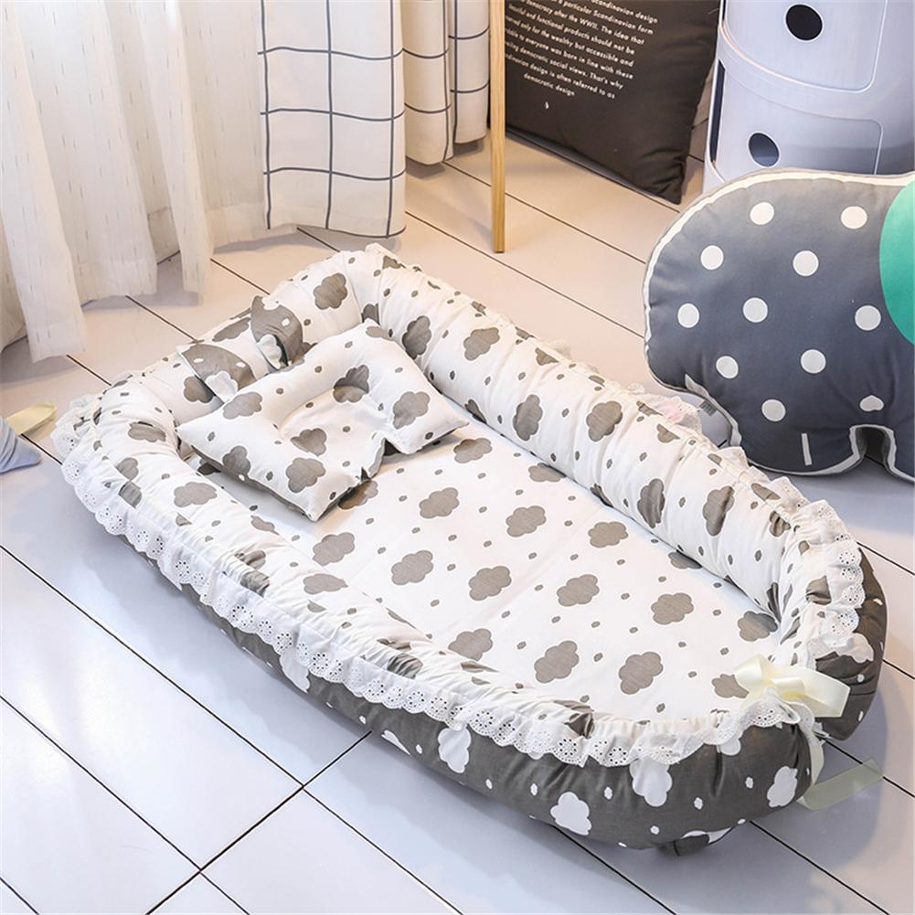 1pc Baby Nest Cartoon Printing Bionic Bed Detachable Washable Portable Baby Bed Multifunctional Travel Crib Newborn Mattress