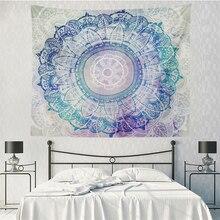 Tapiz de Mandala colgante de pared decoración Boho dormitorio Hippie Tapiz psicodélico tela de pared India flor tapez arte Alfombra de pared