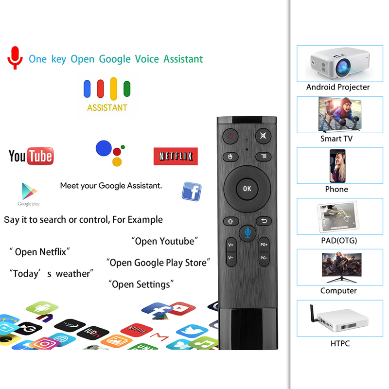Tv box android 9.0 Amlogic S905x2 A95x F2 android tv box 4GB 32GB 64GB bluetooth 2.4/5G wifi voix Contorl Smart tv android box - 6