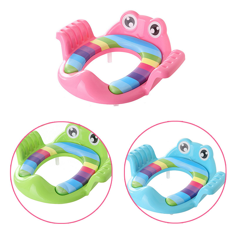 Frog Shape Baby Potty Seat Pad Toilet Seat Cover Cushion With Handle