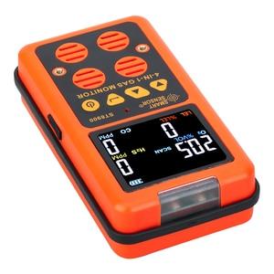 Image 4 - 4 в 1 многогазовый детектор, газовый монитор, кислород, О2, сульфид водорода H2S, датчик угарного газа, CO, горючих газов, LEL, газоанализатор, измеритель