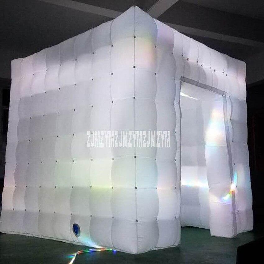2.5*2.5*2.5m haute qualité noce gonflable Photobooth 210D Oxford tissu LED cabine Photo tente 220 V/110 V simple/deux porte