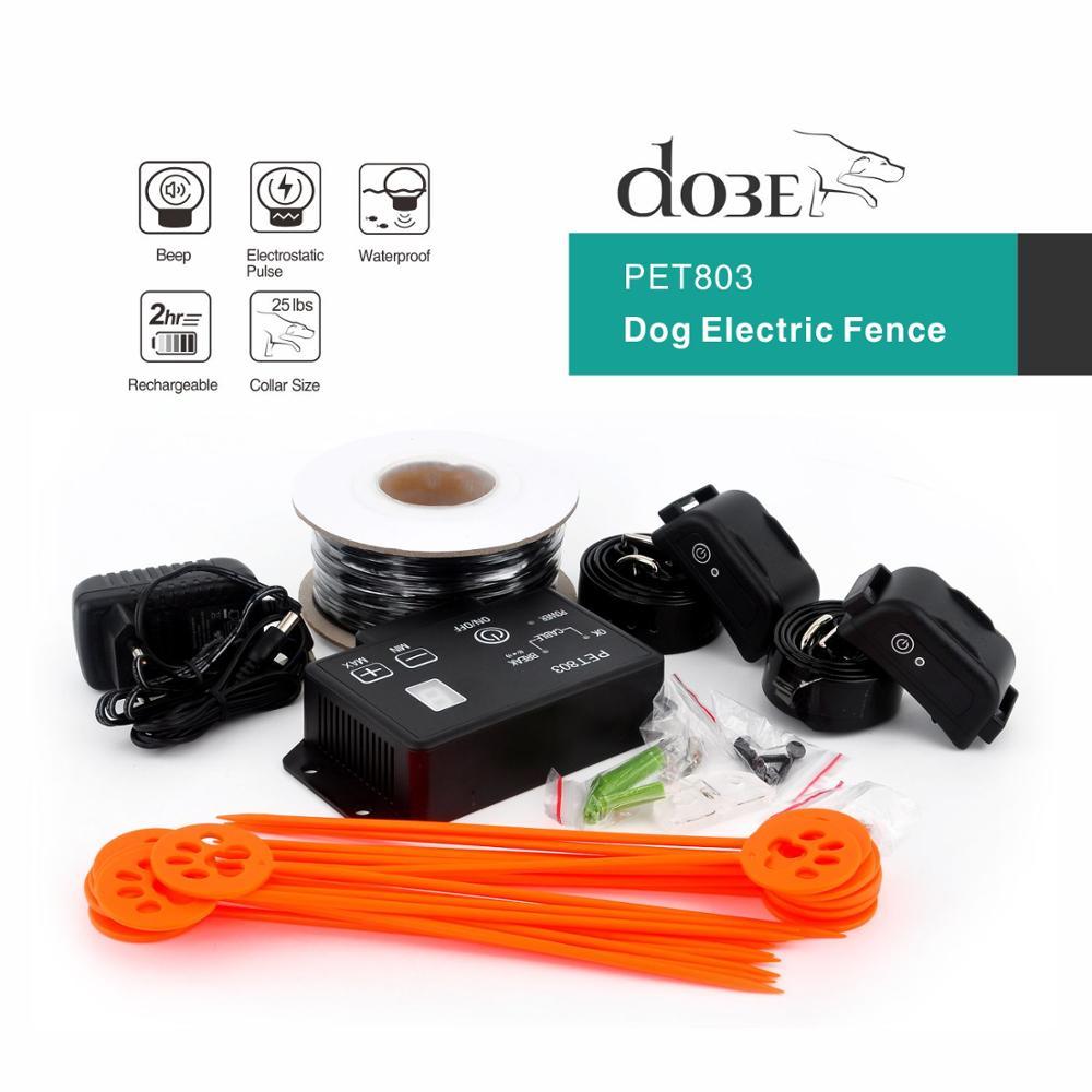 Hot wodoodporna elektryczne ogrodzenie dla psów elektroniczny zwierzak System ogrodzeń Runaway pies nadaje się do średnich/dużych psów ogrodzenie dla zwierząt w Obroże treningowe od Dom i ogród na  Grupa 1
