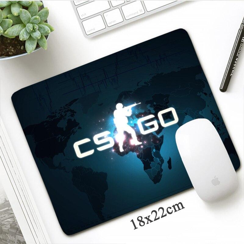 DIY Counter Strike Gaming Mouse Pad  Gamer Rubber Anti-slip18x22cm Locking Edge Rubber Durable Cs Go MousePad Small Computer Mat