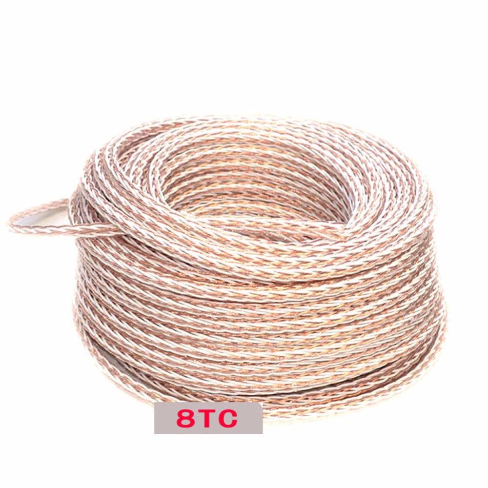 Per Meter HIFI 8TC 7N OCC Pure Copper Speaker Cable Hi-End Audio Speaker Wire Loudspeaker Cable