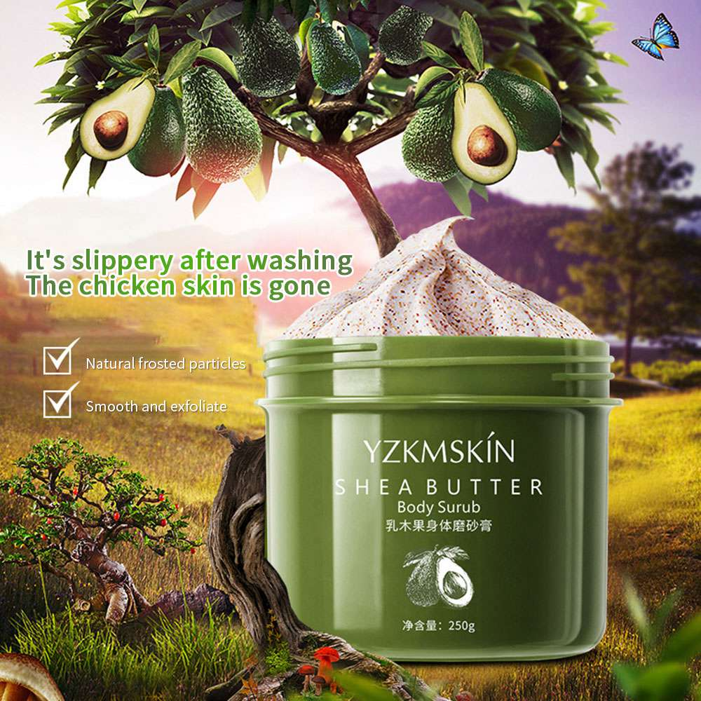 250g Body Scrub Exfoliating Gel Dead Skin Cream Rich Shea Butter Nicotinamide Whitening Skin Moisturizing Body Care