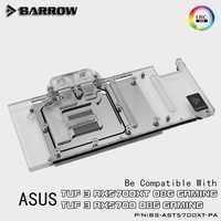 Barrow volle abdeckung GPU Wasser Block für ASUS TUF 3 5700XT Aurora MotherBoard 5V SYNC AURA BS-AST5700XT-PA