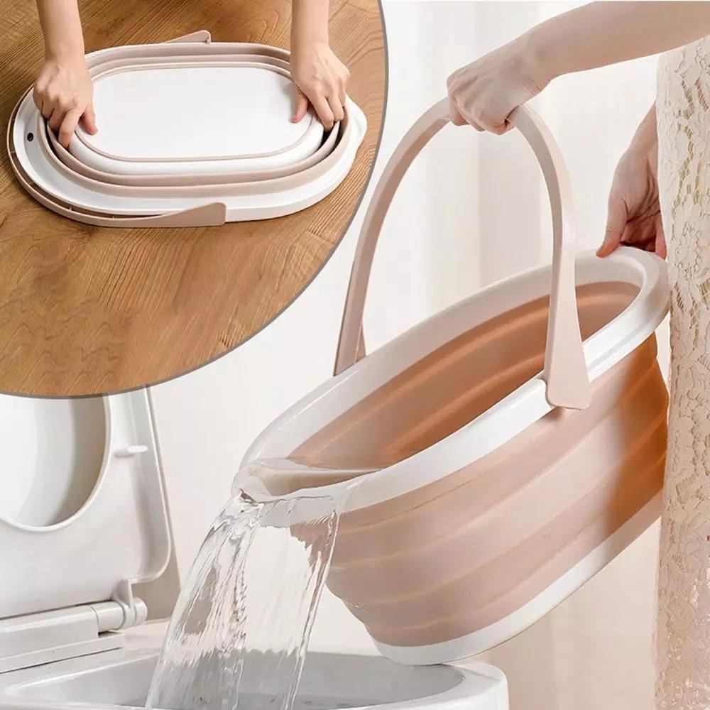 Cubo plegable de silicona para lavar suelos, cubo para fregona, baño, cocina, limpieza, Camping, cubeta para lavar autos, plegable