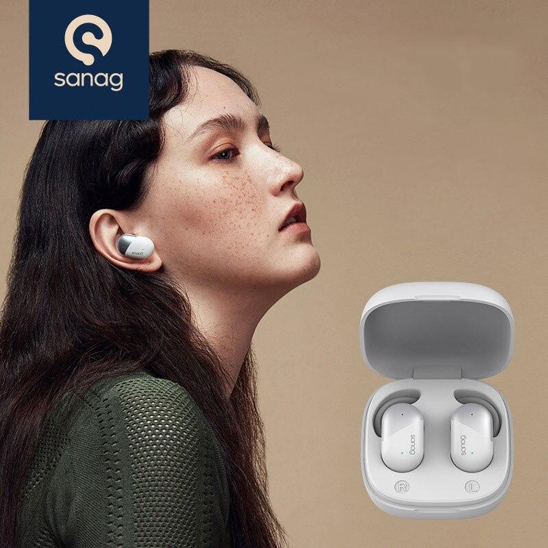 Sanag P5 wireless headphones Bluetooth 5.0 Sports mini true Wireless Earbuds Noise reduction HiFi stereo Bluetooth Earphone