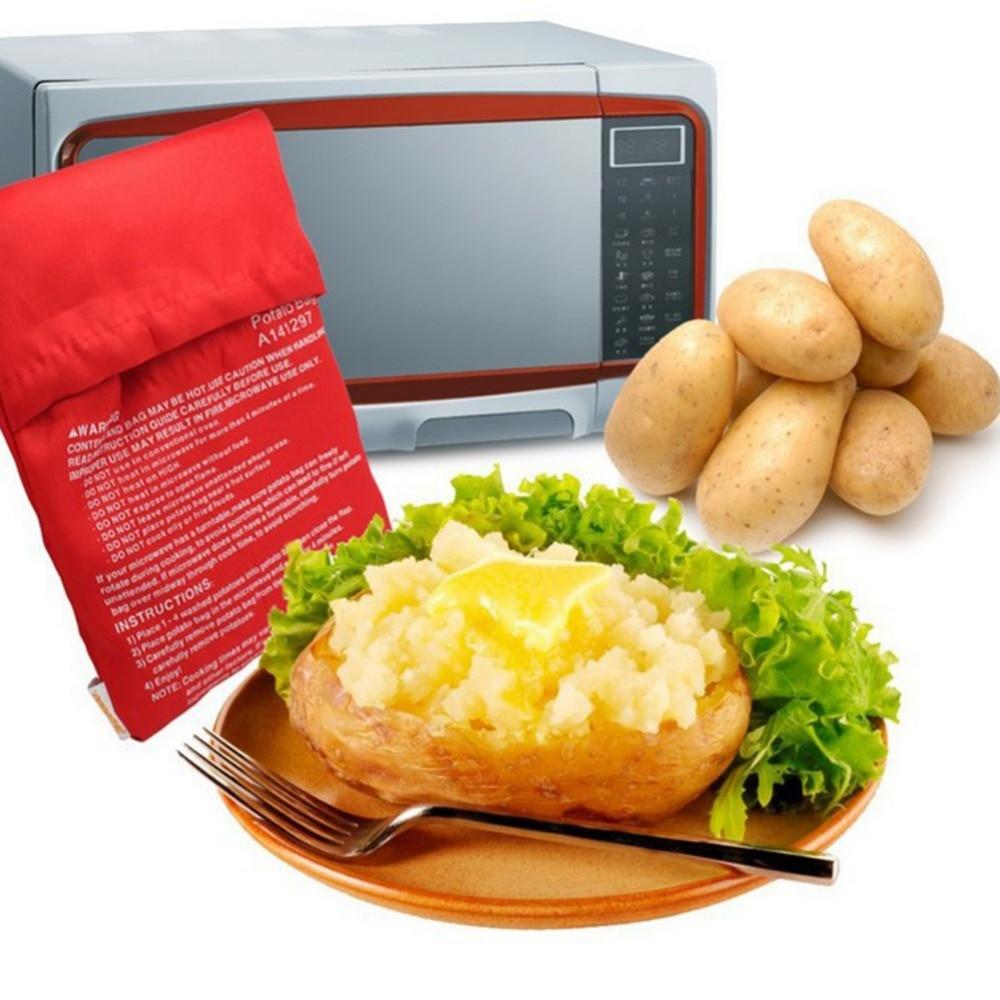 1 pçs conveniência forno microondas saco de batata alta temperatura velocidade assado saco forno grosso armazenamento de alimentos acessórios cozinha