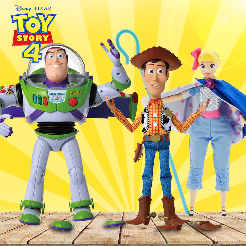 Hot Disney 43cm Toy Story Thinkway Bo Peep Talking Buzz Lightyear PVC Action Figure Collectible Doll Toys For Kids Children Gift