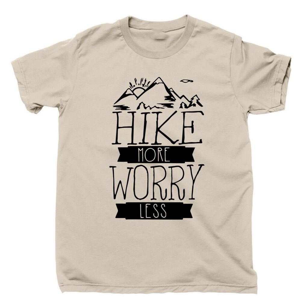 Hiking T-Shirt Mountains Grand Canyon Zion Glacier Yosemite National Parks Cotton Tee Shirt Free Style image