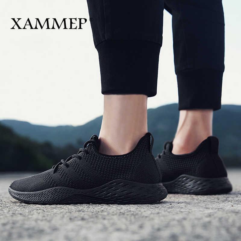 Erkekler rahat ayakkabılar Erkek Spor Ayakkabı Markası erkek ayakkabısı Erkek Örgü Flats Loafer'lar Üzerinde Kayma Nefes Bahar Sonbahar Yüksek Kaliteli Xammep