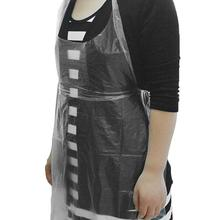 Waterproof Kitchen Work Apron New Disposable Adjustable Bib Disposable Waterproof Apron Cooking Catering Home Cooking Aprons geometric style hot sale high quality cotton waterproof women aprons adjustable sleeveless kitchen cooking aprons