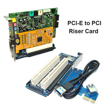 PCI-E To Dual PCI Riser Card Extender Desktop PCI Express Expansion Adapter Connector Card For PC Computer Windows XP LINUX