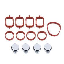 цена на Fits For BMW M47 E46 320d 330d 525d 4x  22mm Diesel Swirl Flap Bungs Gaskets Kit