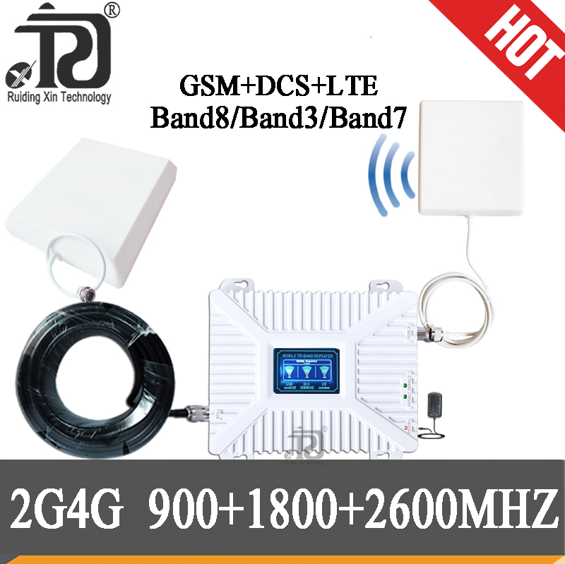 4g Amplifier 900/1800/2600mhz DCS LTE GSM 2G 3G 4G Mobile Signal Booster 4g 1800 2600MHZ Repeater 900 GSM Cellular Amplifier