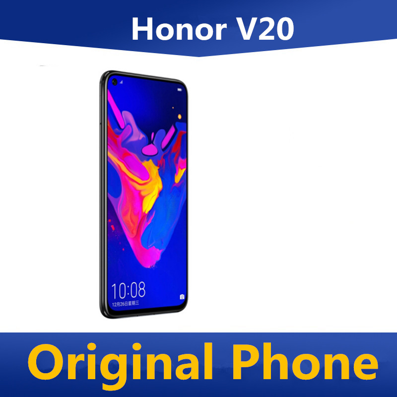 Международной прошивки Honor V20 Honor View 20 смартфон со сканером отпечатка пальца полный экран 6,4 дюйма Android 9,0 Kirin 980 48 МП