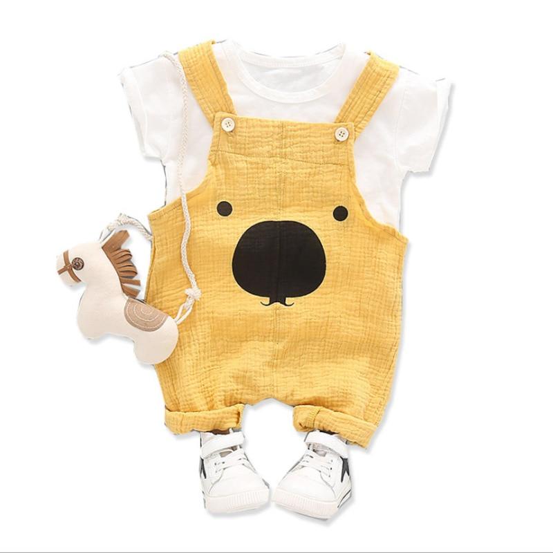 novas roupas de bebe verao terno criancas meninos camiseta menina dos desenhos animados macacao 2 pcs