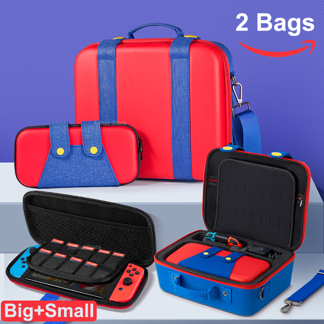 New Nintend Switch Console Accessories 2 Carrying Storage Case Cute Deluxe Protective Big Bag for Nintendo Switch Nintendoswitch