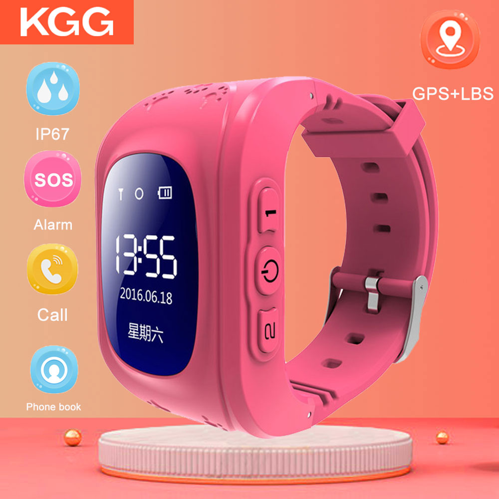 B1 OLED Child GPS Smart Watch SOS Smart Monitoring Positioning Tracker Smart Watch Phone Kids GPS Smartwatch PK Q50 Q90 Q528