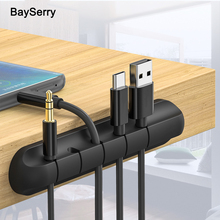Silicone Cable Organizer USB Cable Holder Flexible Cable Winder Management cable Clips Holder For Mouse Keyboard Earphone Wire silicone cable organizer usb cable holder flexible cable winder management cable clips holder for mouse keyboard earphone wire