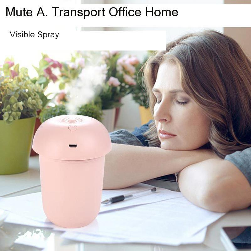 Humidifier Household Usb Moisture Organ Vehicle Aromatherapy Device Mute Bedroom Spray Instrument Mushroom Lamp Scented Machine