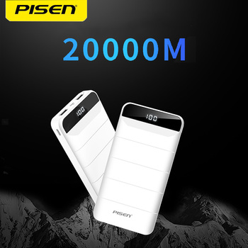 PISEN 20000mAh Portable Power Bank LED Display 10000mAh Portable Charging PowerBank USB Charger For iPhone /Xiaomi/ Huawei Phone