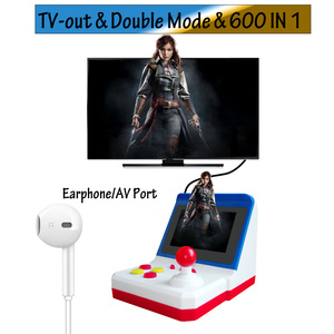 Image 2 - Mini Arcade Game Retro Machines for Kids with 600 Classic Video Games Console Home Travel Portable Gaming System Children Toys