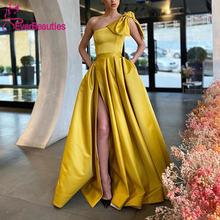 Женское вечернее платье с карманами Длинное Элегантное трапеция