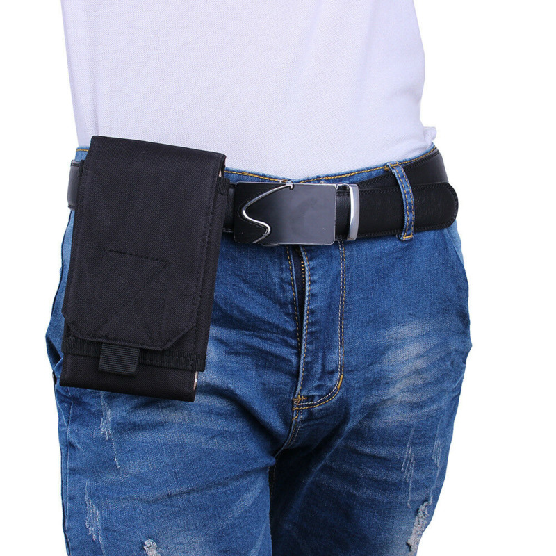 Tactical Military Fanny Pouch Belt Hip Molle Waist Bag Cell Phone Case Portable Outdoor Molle Army Tactical Mobile Phone Pouch