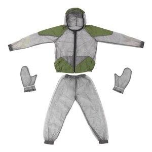 Image 4 - דוחה יתושים חיצוני חליפת באג מעיל רשת סלעית חליפות דיג ציד קמפינג מעיל חרקים מגן רשת חולצה כפפות