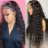 Pre arrancado frente de encaje pelucas de cabello humano para las mujeres cabello peruano peluca con malla Frontal del bebé con el pelo rizado peluca Frontal de encaje de pelo Remy